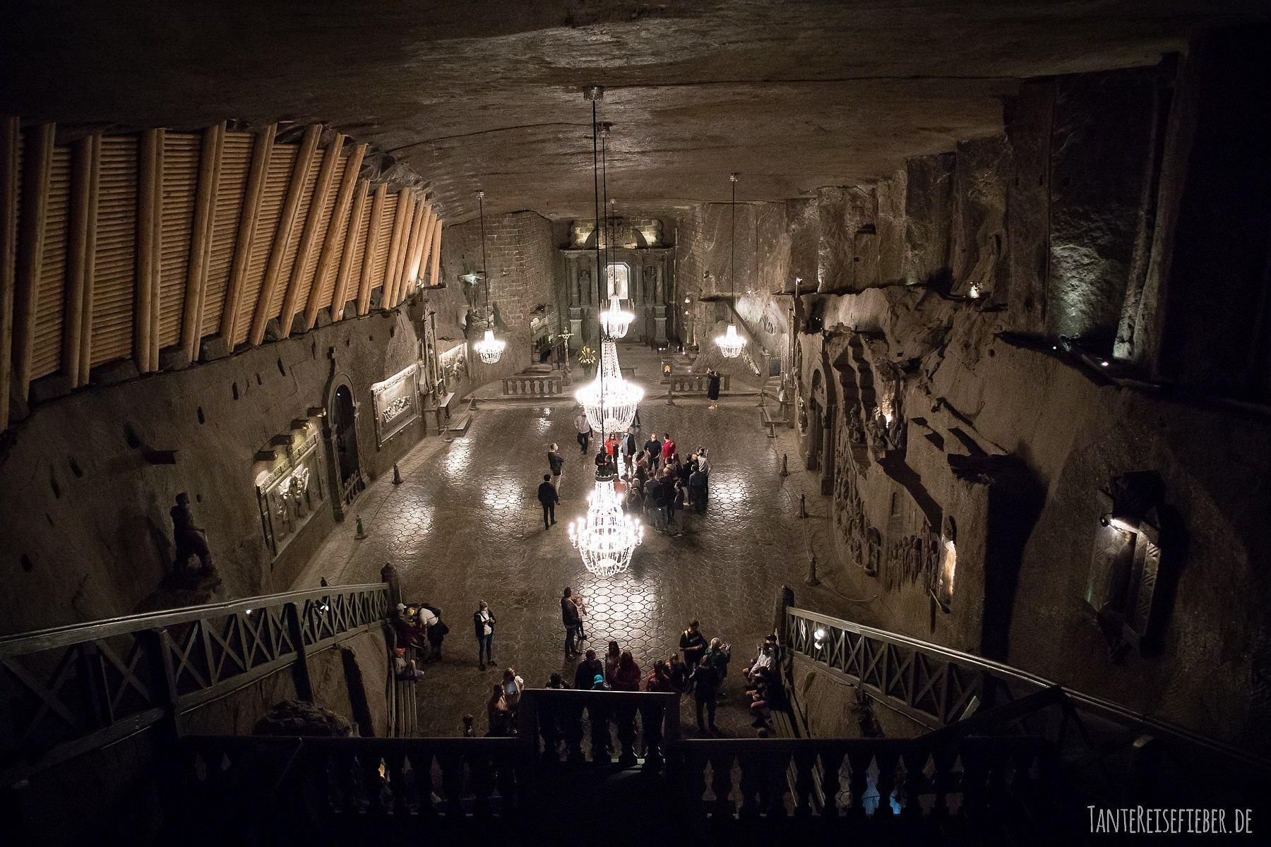 In die Tiefe: Salzmine Wieliczka bei Krakau