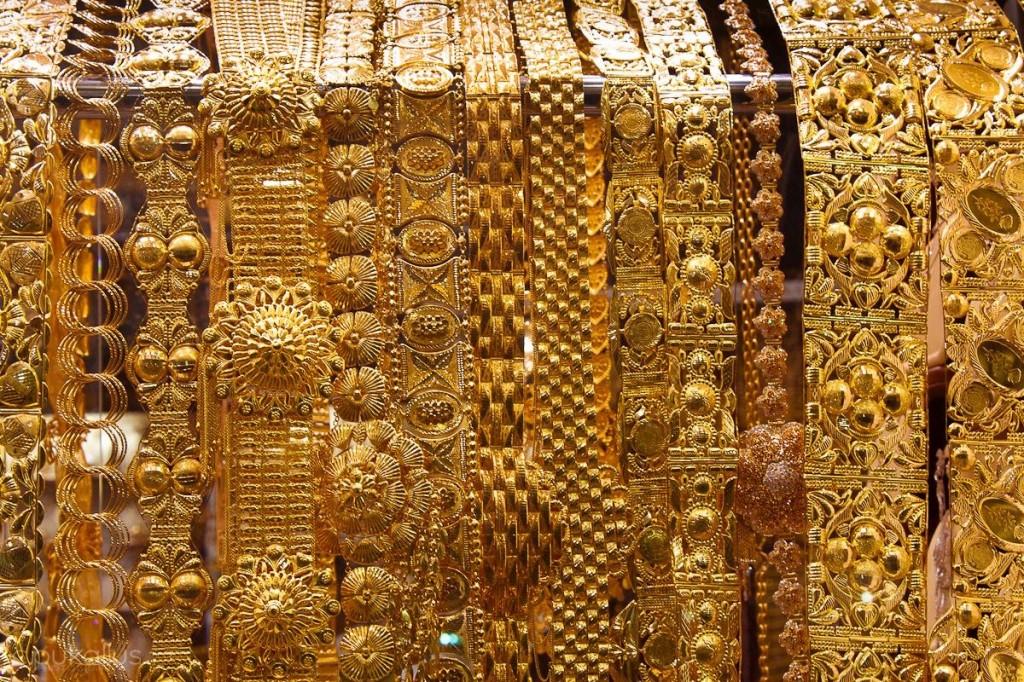Schaufenster im Gold Souq in Dubai